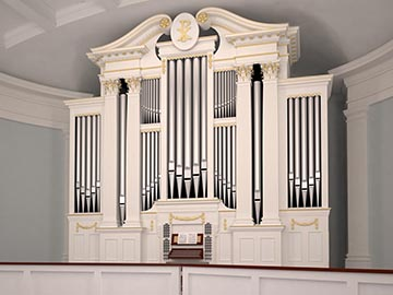 The new organ for Village Presbyterian Church